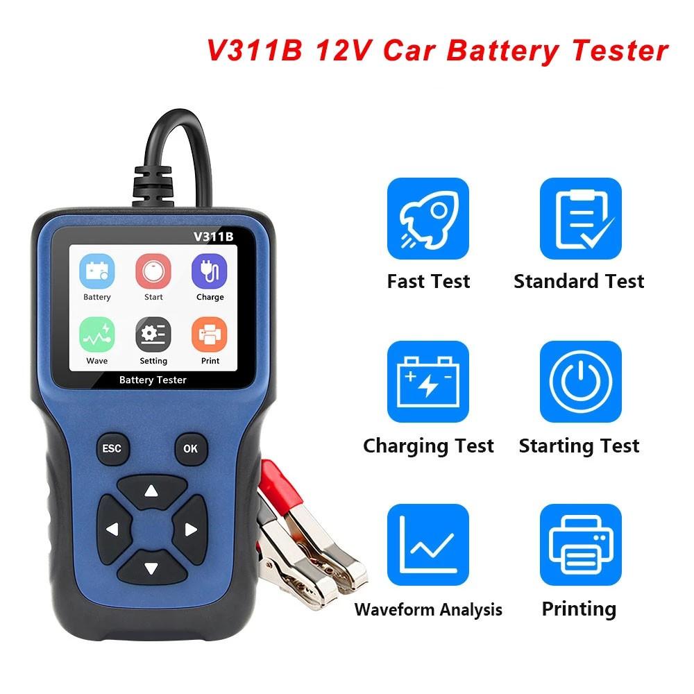 V311B Alat Diagnostik Tester Aki Mobil 12v V311B Obd 2 Obd2