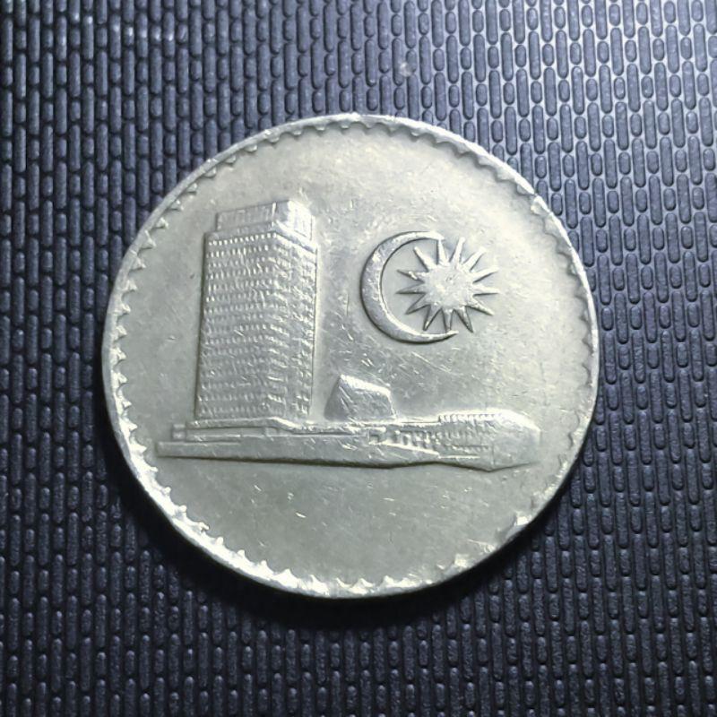 Koin asing Malaysia 50 sen seri gedung