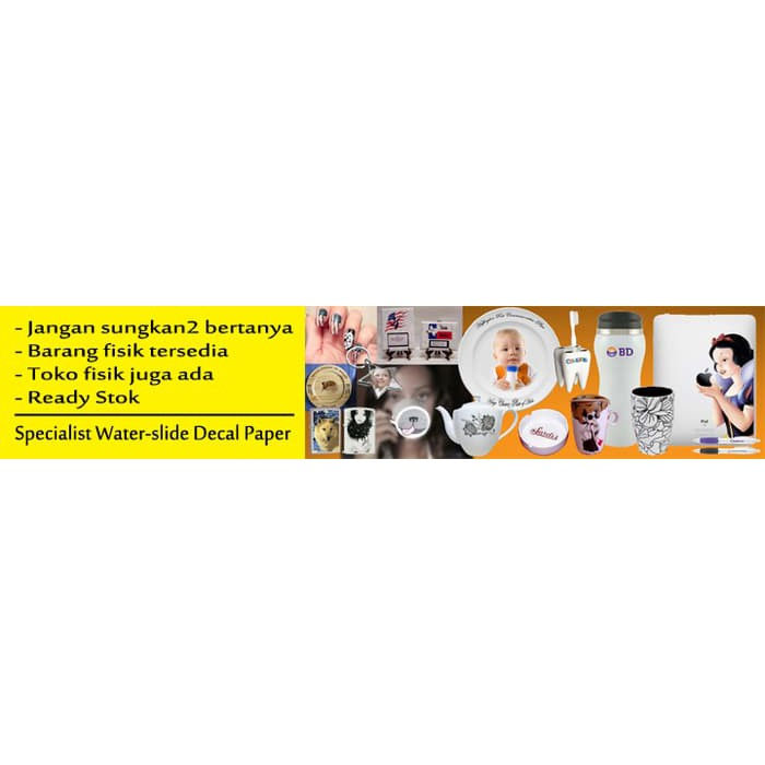 Kertas Water Slide Decal Paper Transparan A4 100gr Fast Print | Shopee Indonesia