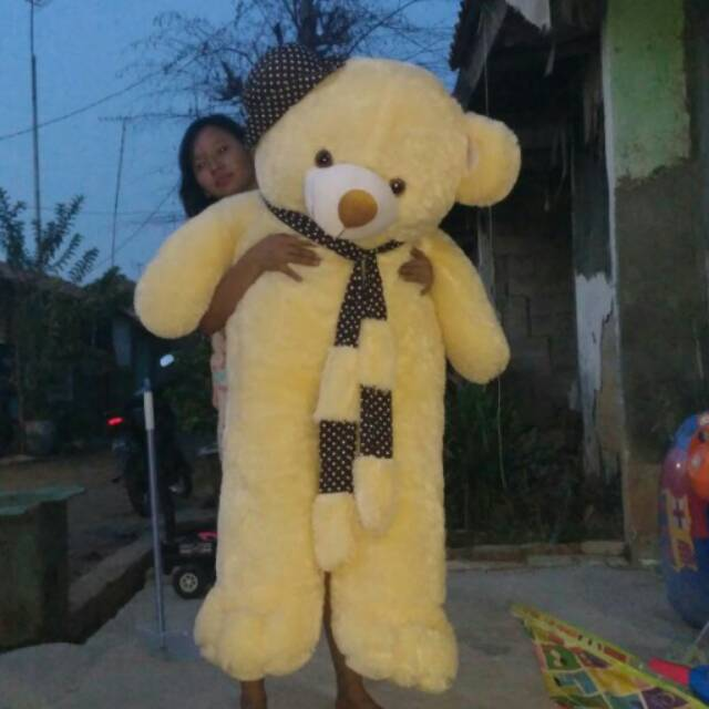 Boneka teddy bear super jumbo 120cm pink  79327ff62f