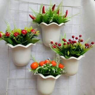 Buah decorasi artificial buah hiasan dapur hiasan resto artificial buah dengan pot tempel