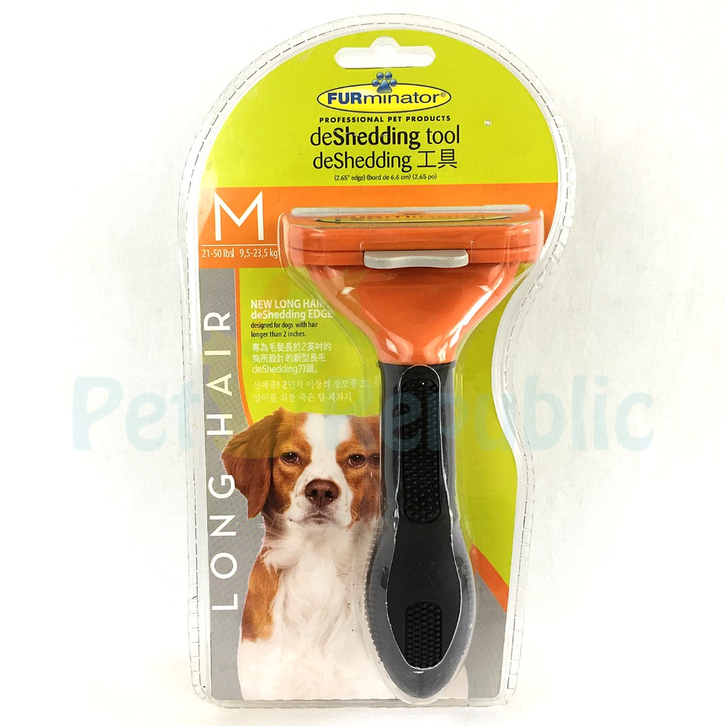 Furminator Sisir Rontok Anjing Deshedding Tool Dog Long Hair Medium Shopee Indonesia