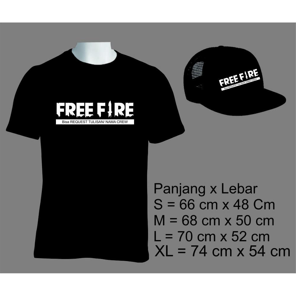 kaos free fire bisa custom tulisan free topi  17f3522541