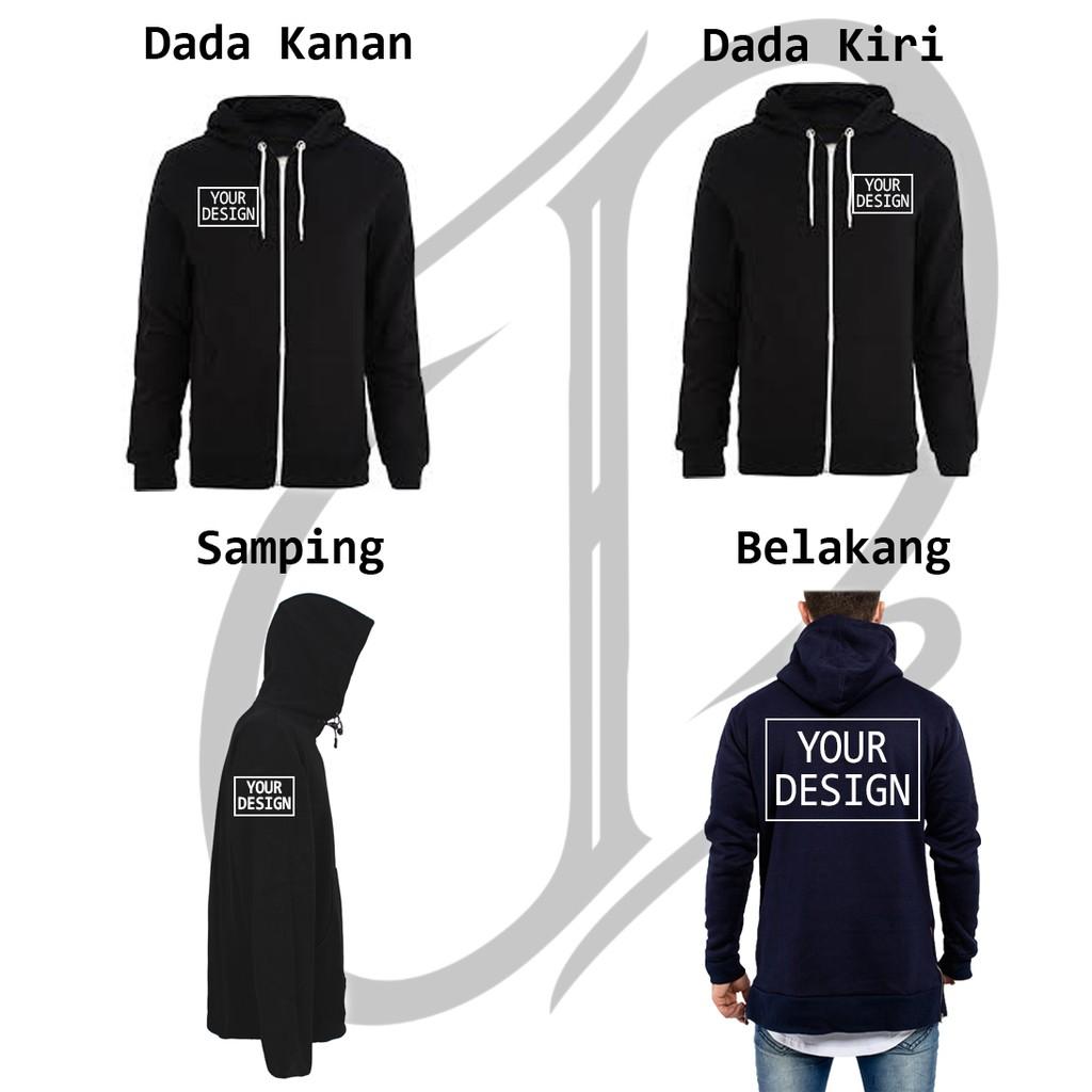 Custom Bordir Hoodie Zipper Shopee Indonesia