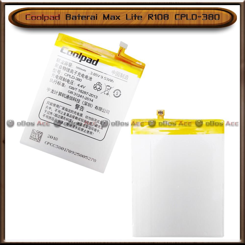 Baterai Coolpad Max Lite R108 CPLD-380 CPLD380 Double Power Batre Batrai HP