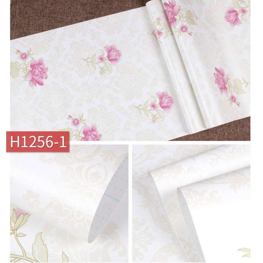 Kode 367 Motif Baru Murah Wallpaper Sticker Dinding Putih Shabby Silver Bunga Mawar Pink Cantik 10 Shopee Indonesia