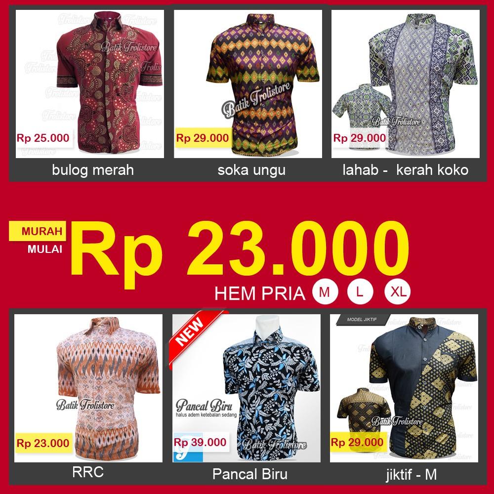 Kemeja Batik Pria Motif Batmono Lengan Pendek Warna Hitam Silver Baju Hem Cowok Btk168 Seragam Trolistore Shopee Indonesia