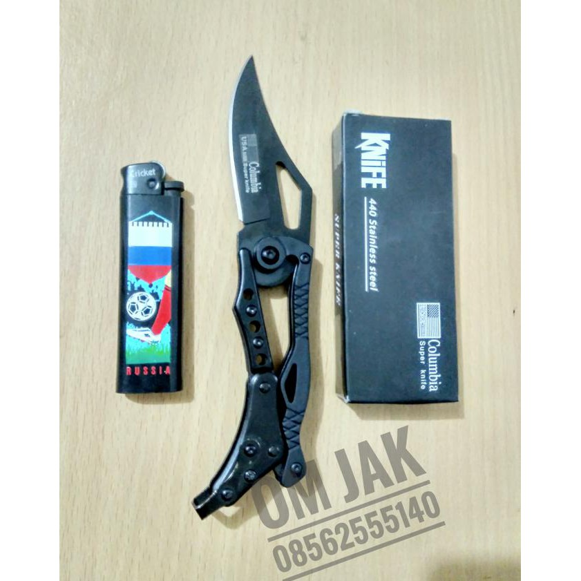 TOP PRODUK SWISS KNIFE PISAU LIPAT MULTIFUNGSI 9 IN 1 DENGAN GANTUNGAN KUNCI .