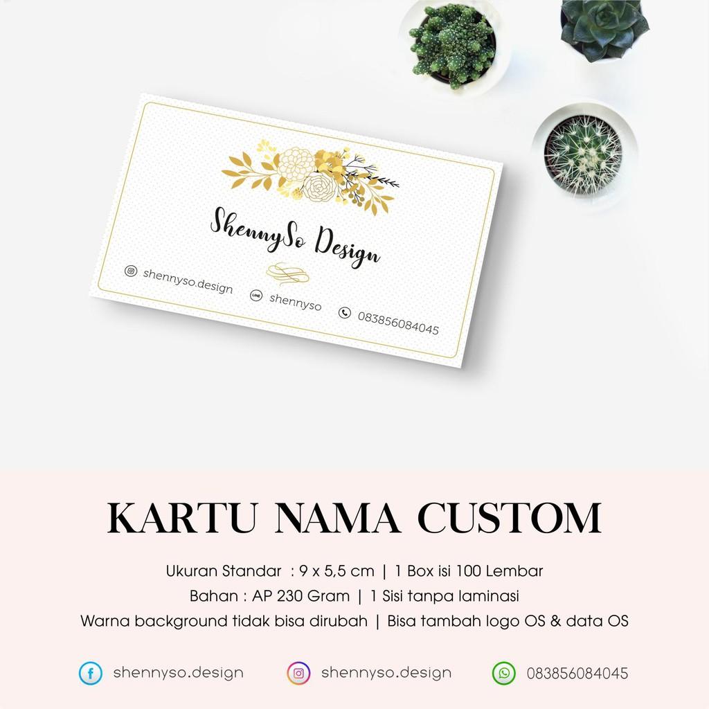 Kartu Nama Shopee Indonesia 2 Sisi Laminasi Doff Atau Glossy