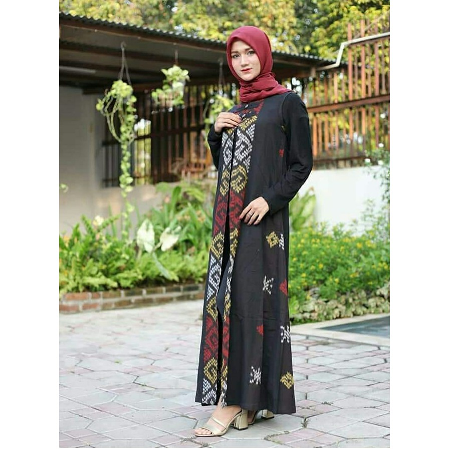 Termurah Gamis Batik Syar I Kain Tenun Troso Handmade Modern Shopee Indonesia