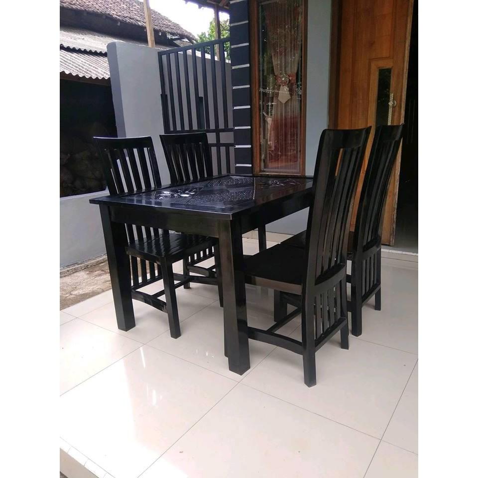 Meja Makan Jati Minimalis Jepara, Mebel Jepara, Furniture   Shopee Indonesia