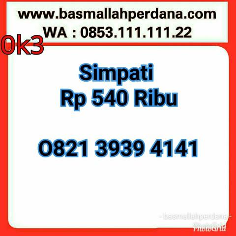 Kartu Perdana Nomor Cantik simPATI seri ABAB CDCD 1313 9292 0821 13 13 92 92 rapi