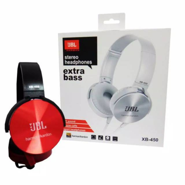 HEADPHONE JBL XB450 EXTRA BASS / HEADSET JBL JACK 3.5mm | Shopee Indonesia