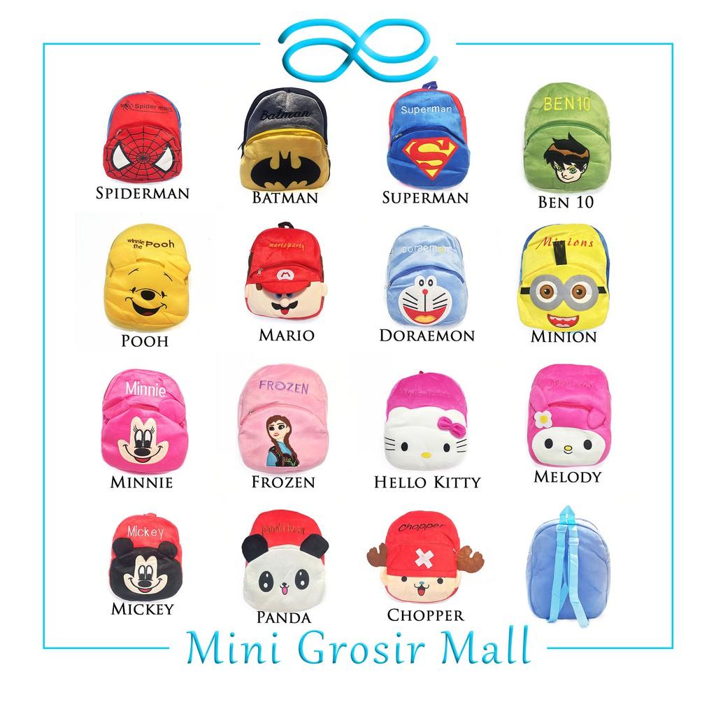 [1KG=9PCS] MGM39 COD Tas Ransel Anak Besar SD Kartun Lucu BackPack Fashion Kids Motif Karakter