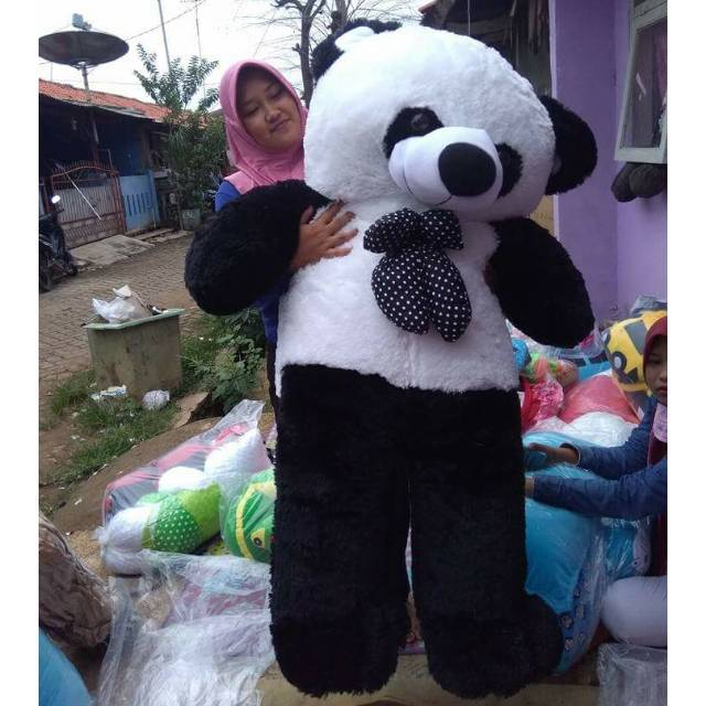 Super Big size jumbo Panda Plus bordir nama setinggi orang dewasa TERMURAH  !!!  41949be7f6