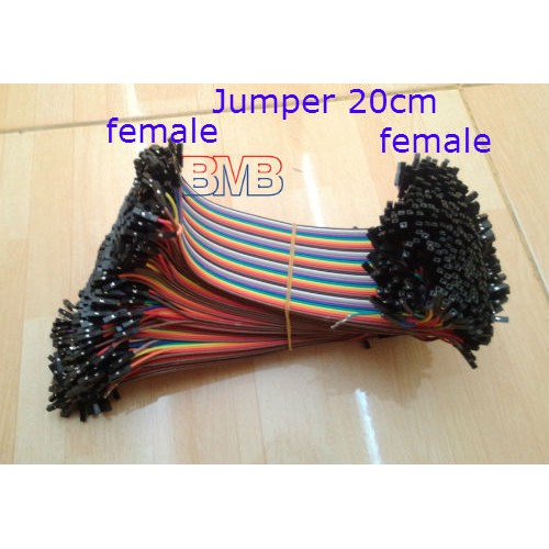 4pin Female to Female Jumper Wires Solderless 20cm Ribbon Arduino