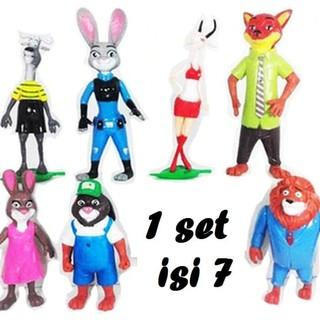 Unik Mainan Anak Action Mini Figure Animation Zootopia Zoo Animal Disney  Limited 9f74248afe