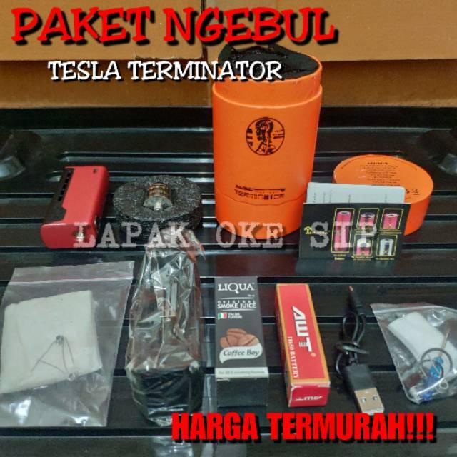 Paket Siap Kebul Ngebul Psk Vape Vave Vapor Fapor Tesla Terminator Rokok Elektrik Dengan Rda Antman Shopee Indonesia