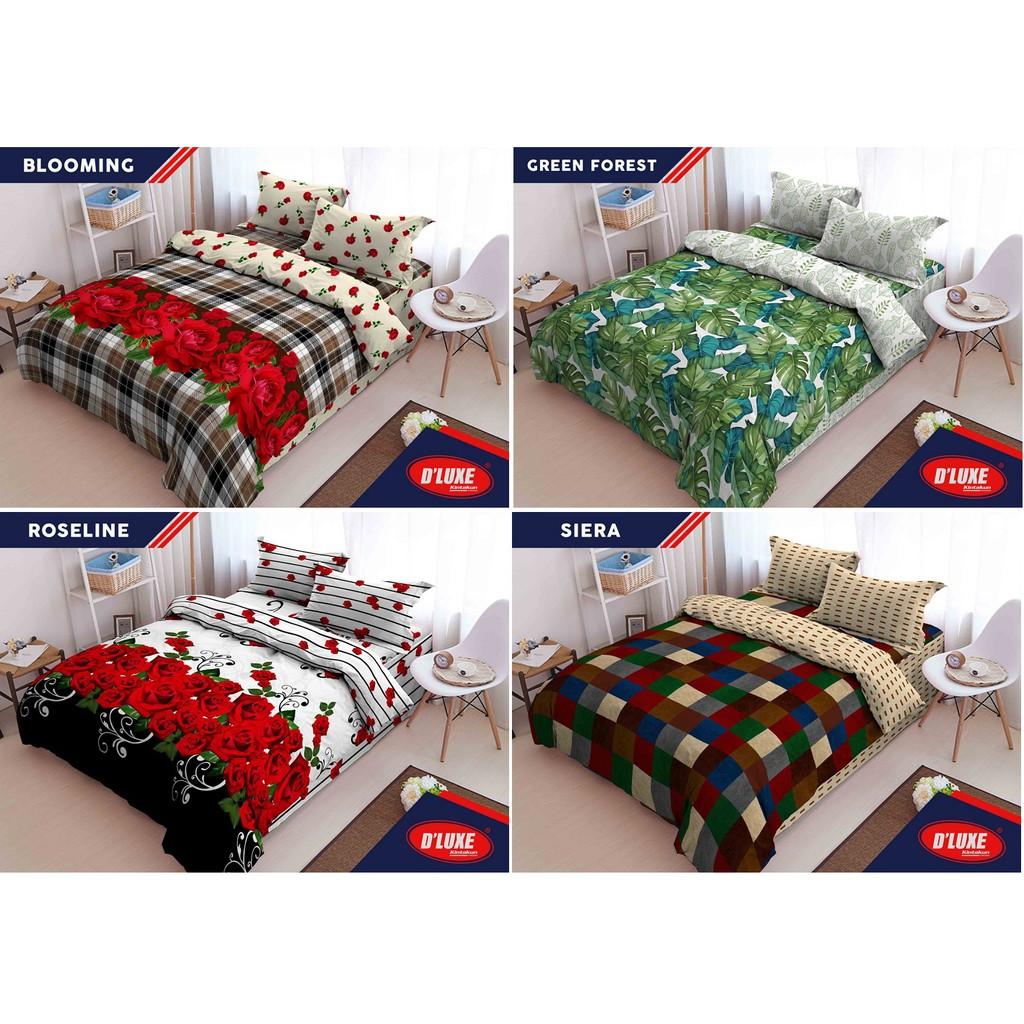 Promo Bed Cover Murah Meriah Uk 180x200 Mrk Verlisa Shopee Indonesia Sprei Katun Import  King 953