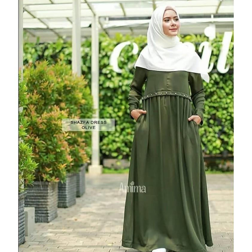 Glossy Dress Gamis Wolfice Gaun Pesta Panjang Baju Hijab Wanita Muslimah  4d1cd3ecf0