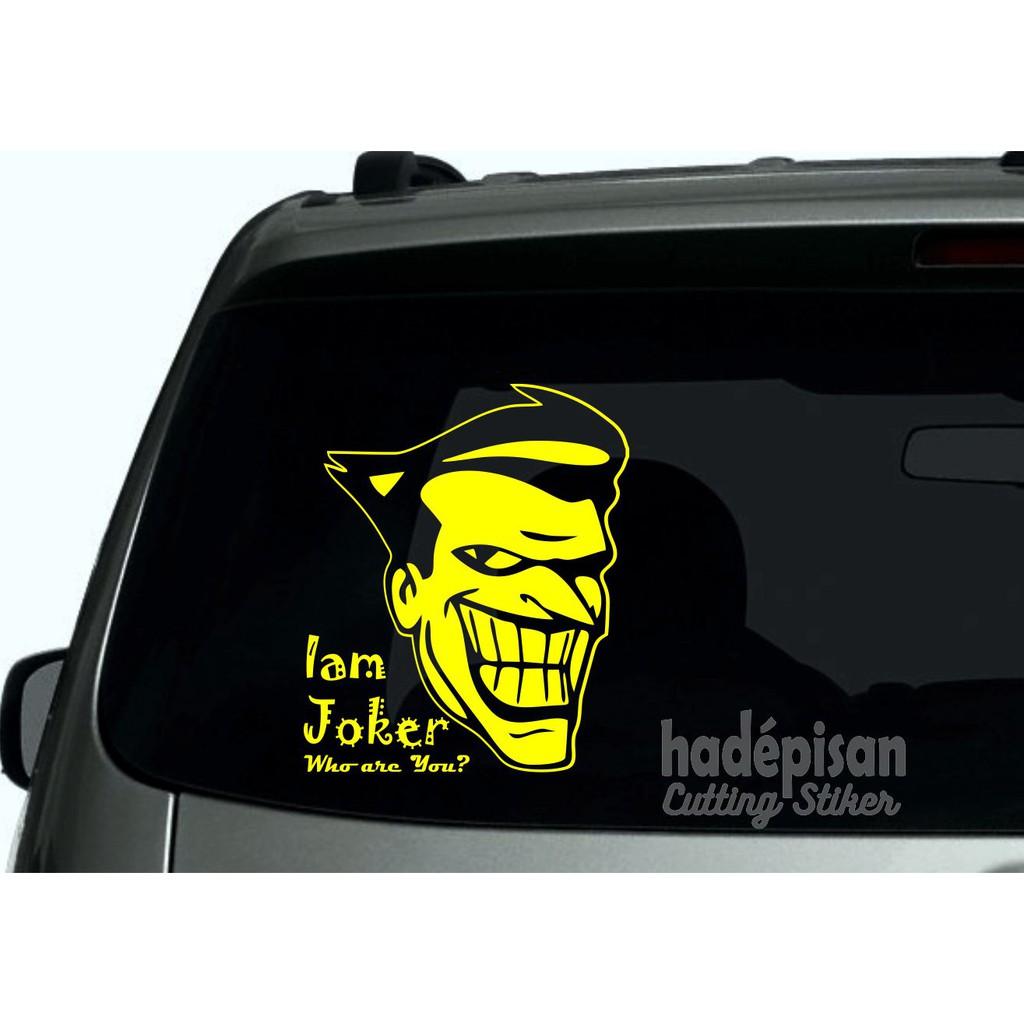 Stiker Mobil Cutting Sticker Kaca Belakang Mobil Joker Shopee