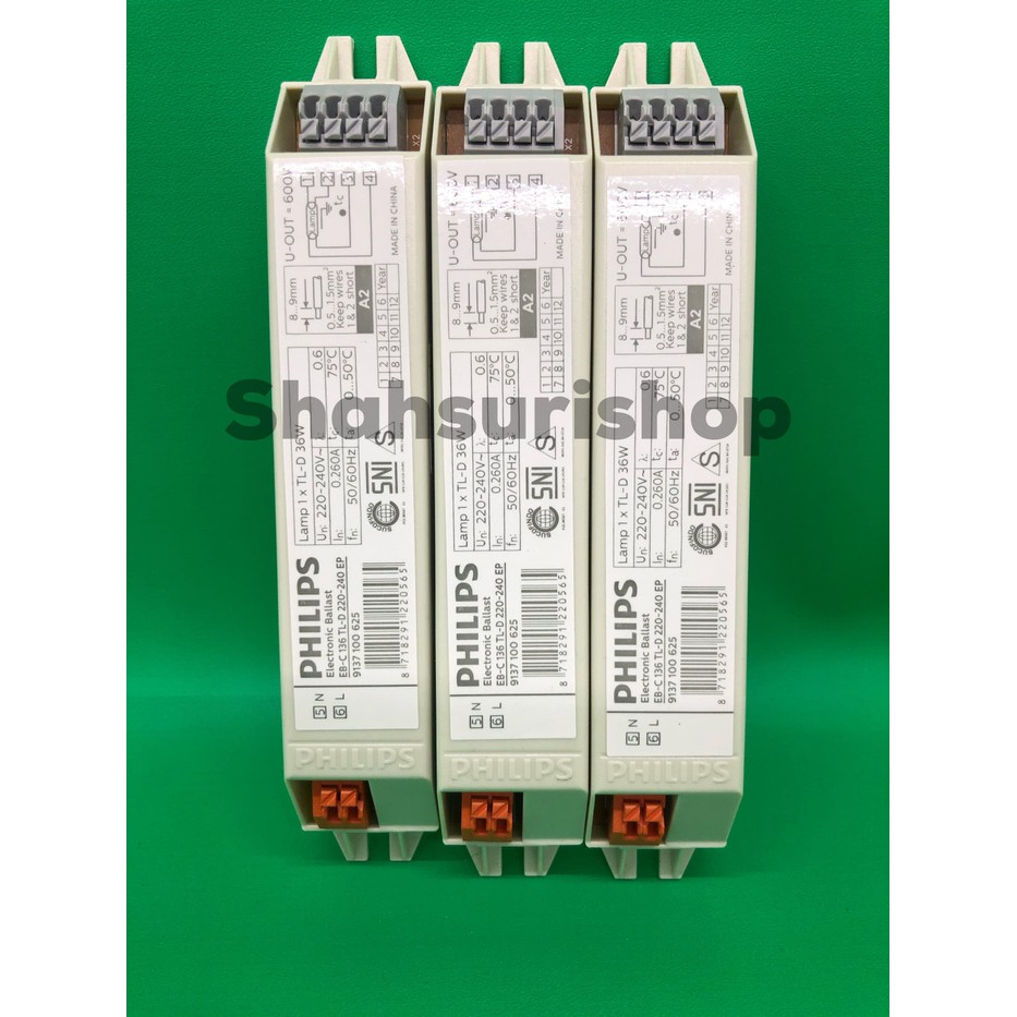 Ballast Lampu Tl Philips Elektronik Eb C 136 36w 36 W Watt Shopee Indonesia