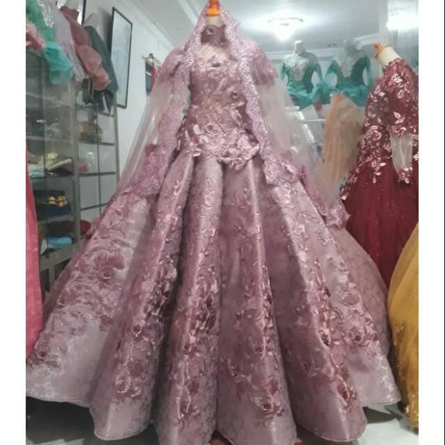 Kebaya Nikah Penganten Gaun Pengantin Modern Kebaya Perancis Gown