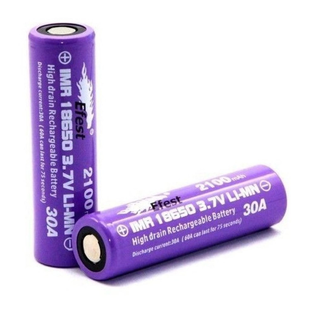 Efest Purple Imr 18650 Li Mn Battery 3000mah 37v 35a With Flat Top Eser Turbo Charger Inr Icr Fast Quick Baterai 6 30a Murah Gosend Shopee