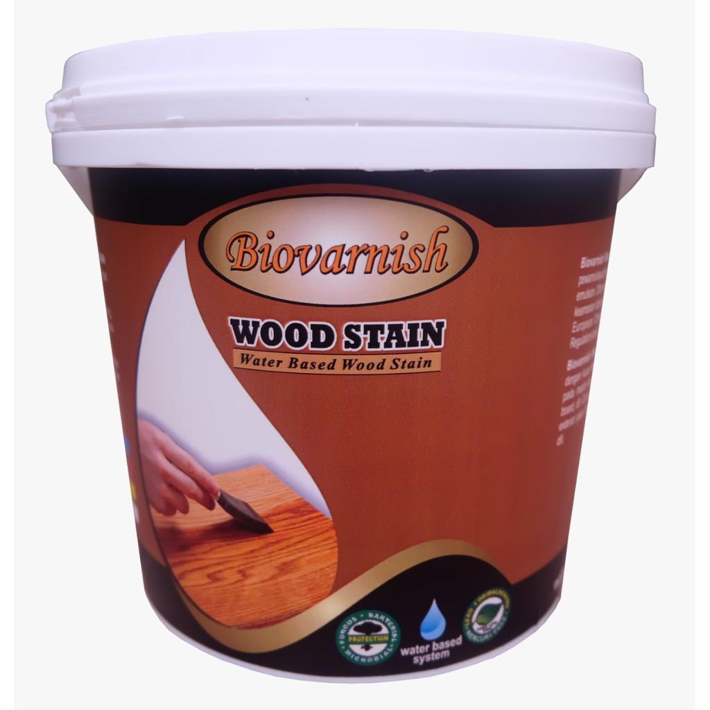 Cat Kayu Waterbased Biovarnish Wood Stain Cherry Shopee Indonesia Cat kayu water base