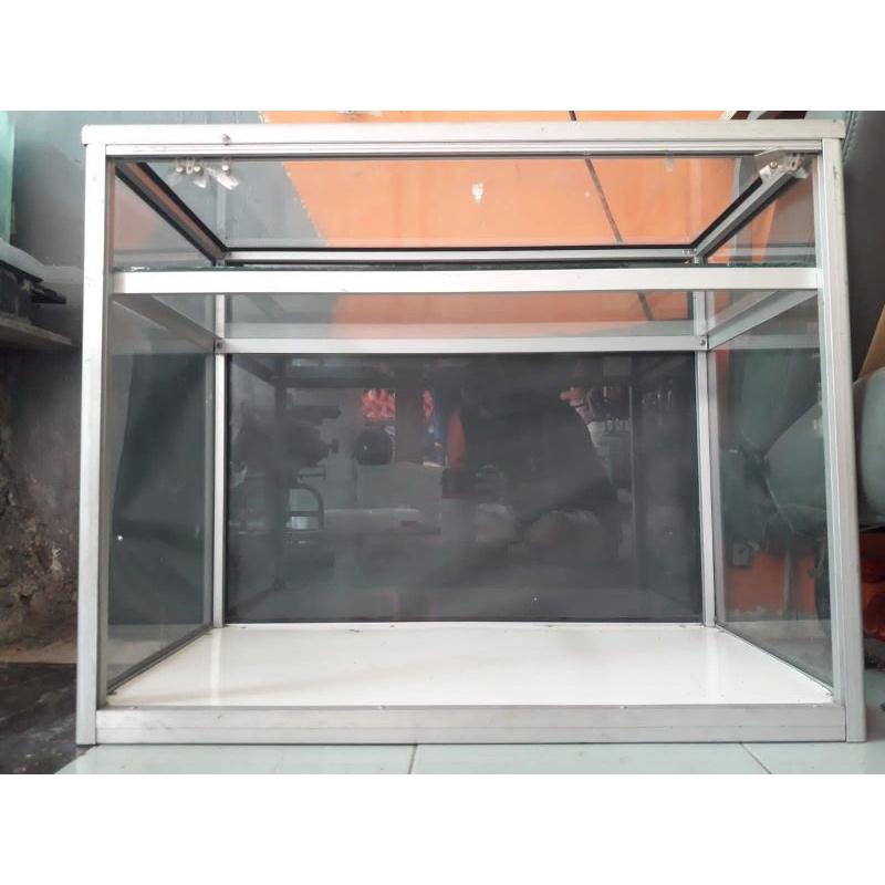 ETALASE KACA BEKAS/SECOND  (74x40x60cm)
