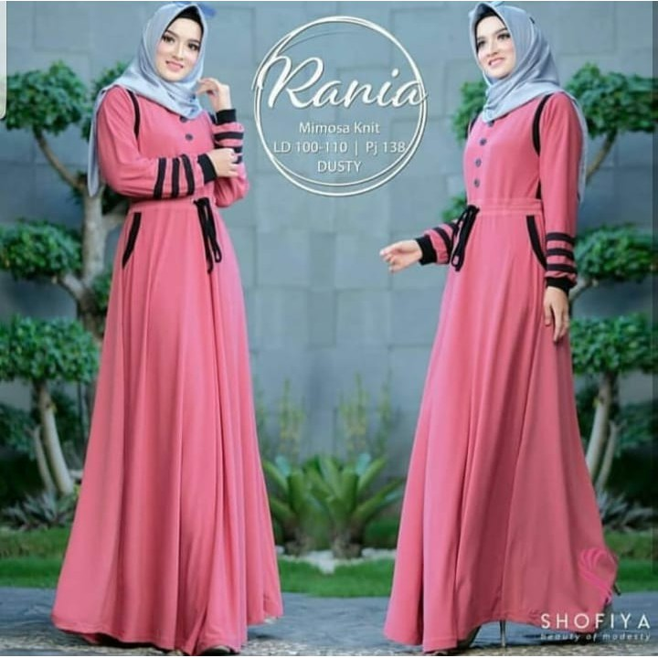 New Tsania Dress Wanita Balotely Baju Panjang Gamis Hijab Formal Casual  Terusan Model Trendy Pakaian  5bf557b4d6