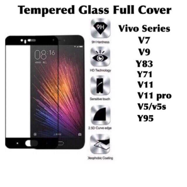 Tempered Glass VIVO V9 V7 PLUS V5 V5S LITE Y71 Y69 Y53 Y51 Y83 V11 Screen Guard anti gores | Shopee Indonesia