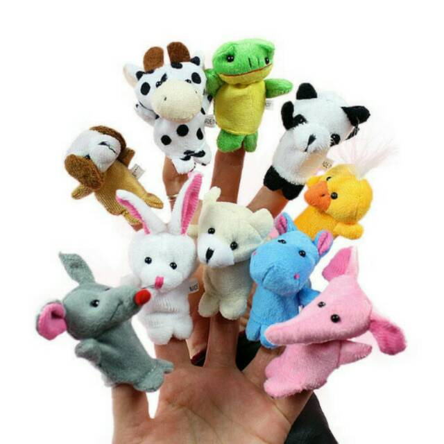 Boneka Jari Binatang   Hewan - Set isi 10 pcs - Animal Finger Puppets  e3726a9090