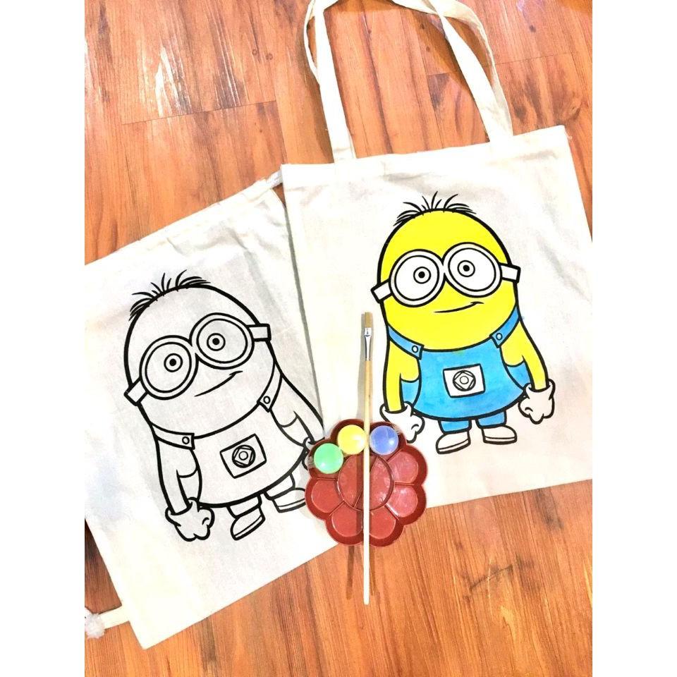 Ready Colouring Bag Tas Mewarnai Mainan Edukatif Anak Tas Kanvas Tas Anak