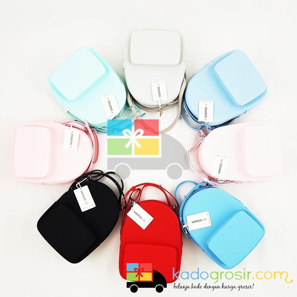 Tas Selempang Wanita The Water Cube Silicone Daypack Bag Jelly Usupso Coin Purse Backpack Model Miniso Pink Salem Shopee Indonesia