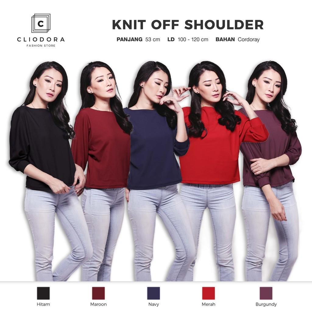 IMPORT Atasan Blouse Glitter Knit Turtle Neck Putih Hitam Black White Cream   Shopee Indonesia