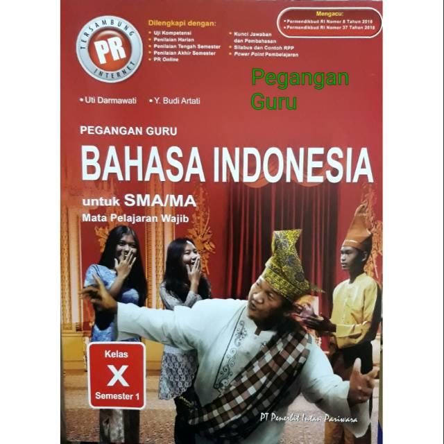 Buku Pegangan Guru Soal Kunci Pr Bahasa Indonesia Kelas X Semester 1 K13 Revisi Shopee Indonesia