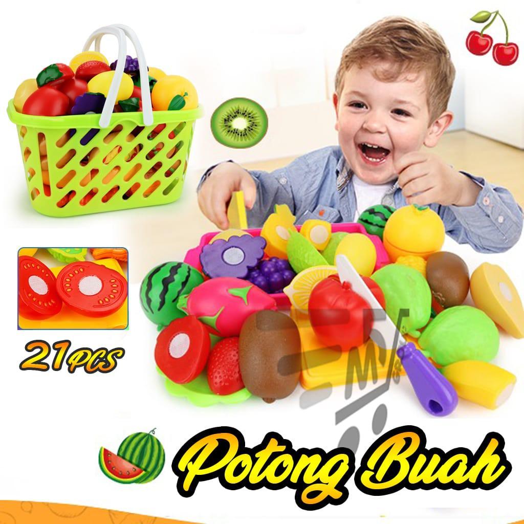 Mainan Buah Potong + Sayur Potong Happy Kitchen  cb5d0129e7