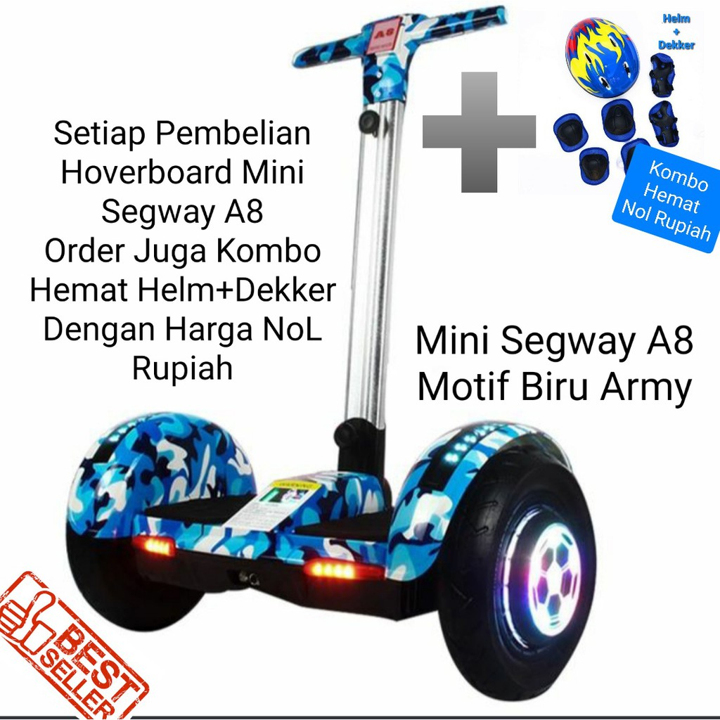 Mini Segway 10 Inch Hoverboard Smart Balance Wheel With Bluetooth Speaker A8 Scooter Electric Shopee Indonesia