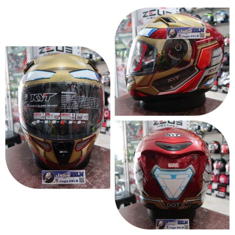 Helm KYT K2Rider Iron Man _Red Gold