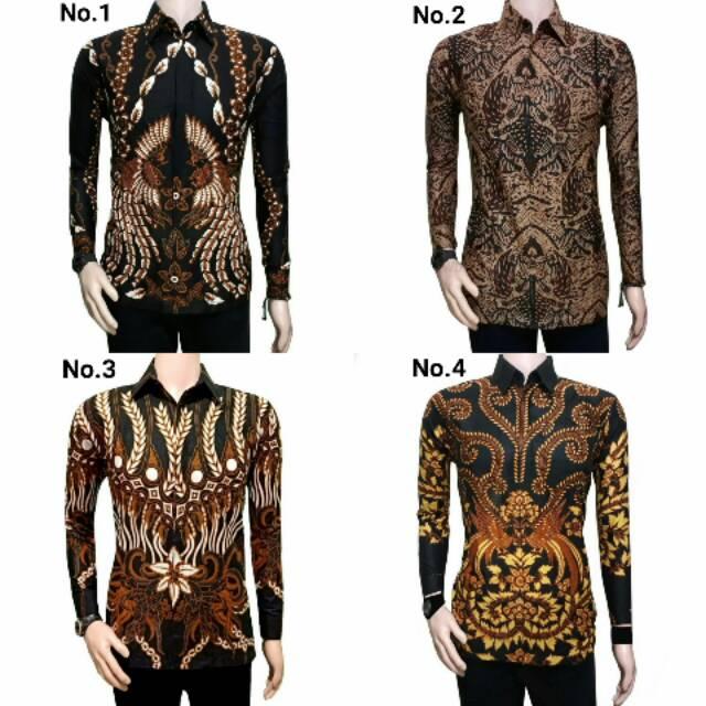 Kemeja Batik Pria Ppbtk07 Modern Lengan Panjang Casual Modis Trendy Masa Kini M L Xl Asli Pekalongan
