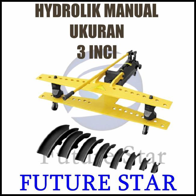 Mesin Bending Pipa Manual/Mesin Pembengkok Pipa Hidrolik Manual 3 Inch