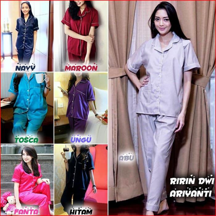 d93edbbee6 Baju Tidur - Piyama - Fashion Wanita Satin Velvet Piyama Wanita Baju Tidur  Cewek   Perempuan Mewah -