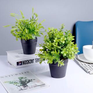 homes tanaman palsu desktop pot bunga hiasan diy rumah
