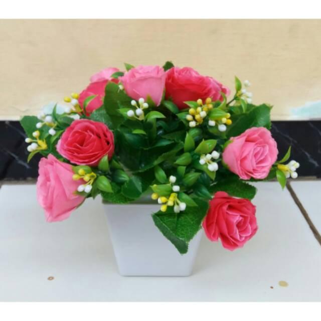 Bunga Mawar Plastik Bunga Hias Plastik Bunga Artificial Bunga