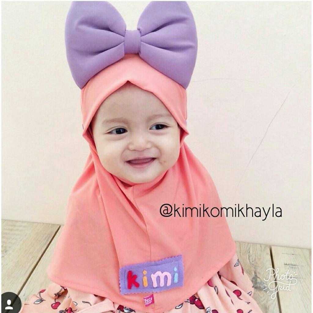 Jilbab Anak Minnie Polos Tanpa Nama Shopee Indonesia Kerudung Bayi Bando Bunga