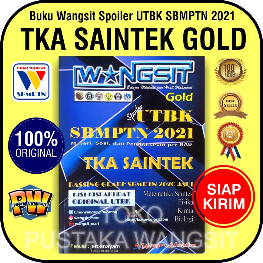 Buku Sbmptn 2021 Buku Wangsit 2021 Utbk Tka Saintek Gold Shopee Indonesia