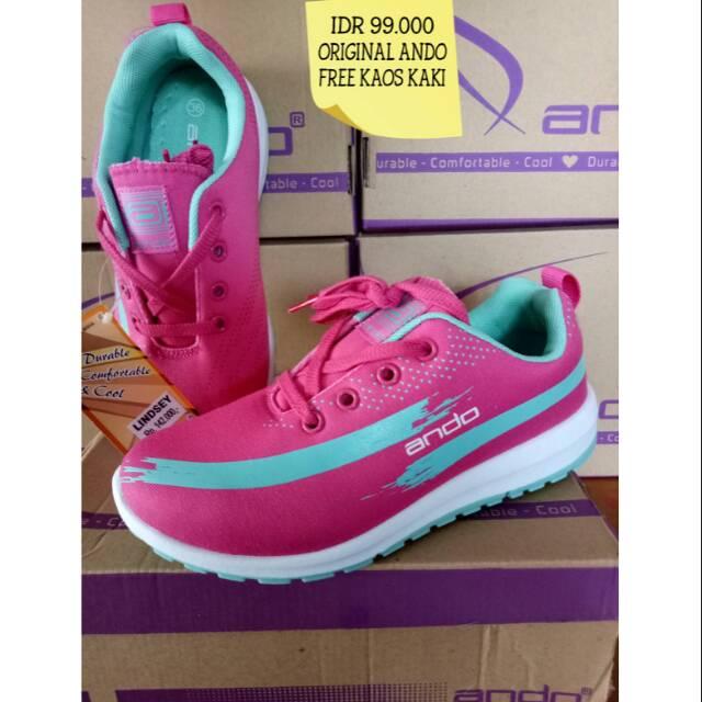 sepatu olahraga wanita dan remaja ORIGINAL ANDO  202fb86439