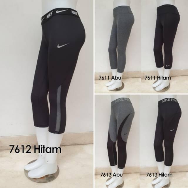 Celana 7 8 Legging Leging Sport Wanita Senam Yoga Fitness Olahraga Cewek Panjang Shopee Indonesia