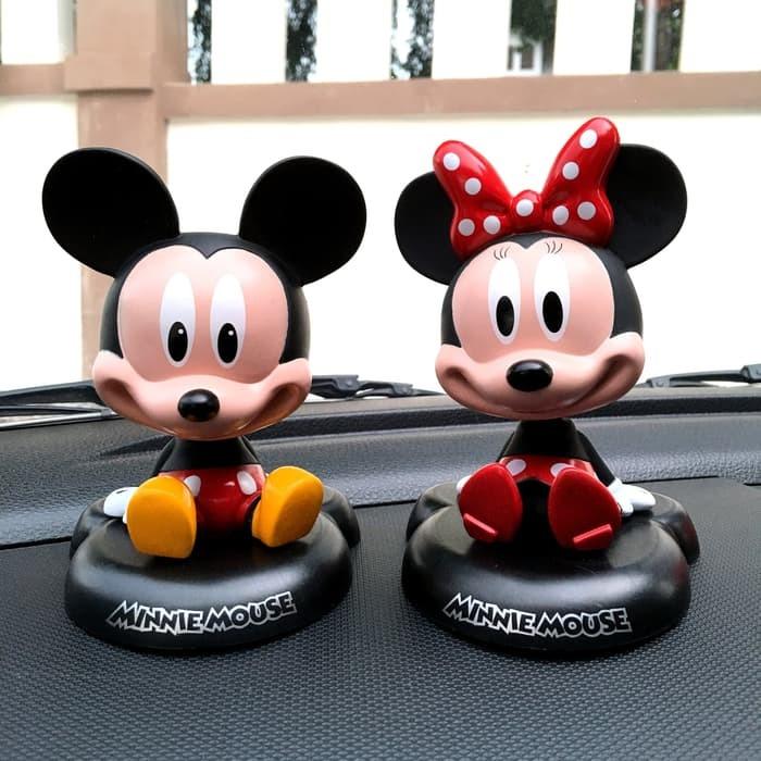 Pajangan Dasbord Mobil Mickey Mouse Minnie Mouse Shopee Indonesia